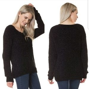 NEW Chenille Soft Boutique V Sweater